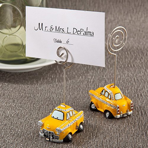 Yellow Taxicab Place Card Holders , 144