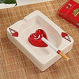 Ashtray bijiben_ Creative personality poker ceramic, Heart