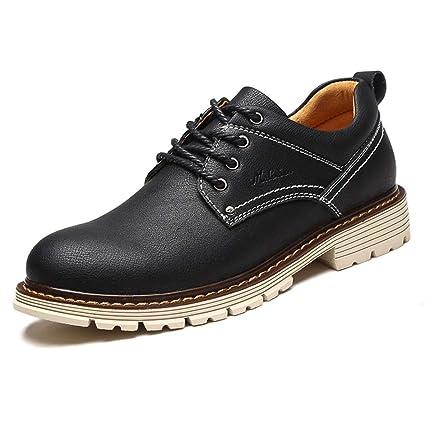 ce16cc2a6a2 LXLA- Zapatos Ocasionales para Hombre con Cordones para Hombres Zapatos  Cómodos para Hombres con Cabeza