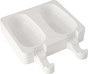 Image ofGEL01 Kit de 2 moldes de Silicona para Helados, Forma clásica, Color Blanco