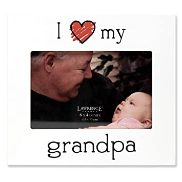 Amazoncom Lawrence Frames I Love My Grandpa Picture Frame 6 By