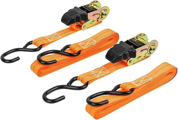 Las 10300 Spanngurte Mit Ratsche Und S Haken 2er Set Orange Set Of 2 Auto