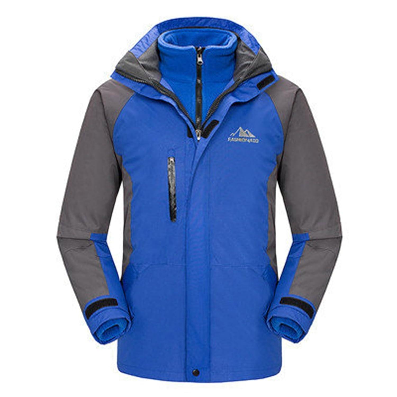 TANTINAH Mens Waterproof Windproof Outdoor Snow Jacket Ski Fleece ...