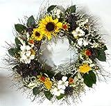 Walking On Sunshine Sunflower And Dogwood Wreath 30''