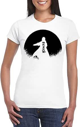 White Female Gildan Short Sleeve T-Shirt - Minato – Half Circle design