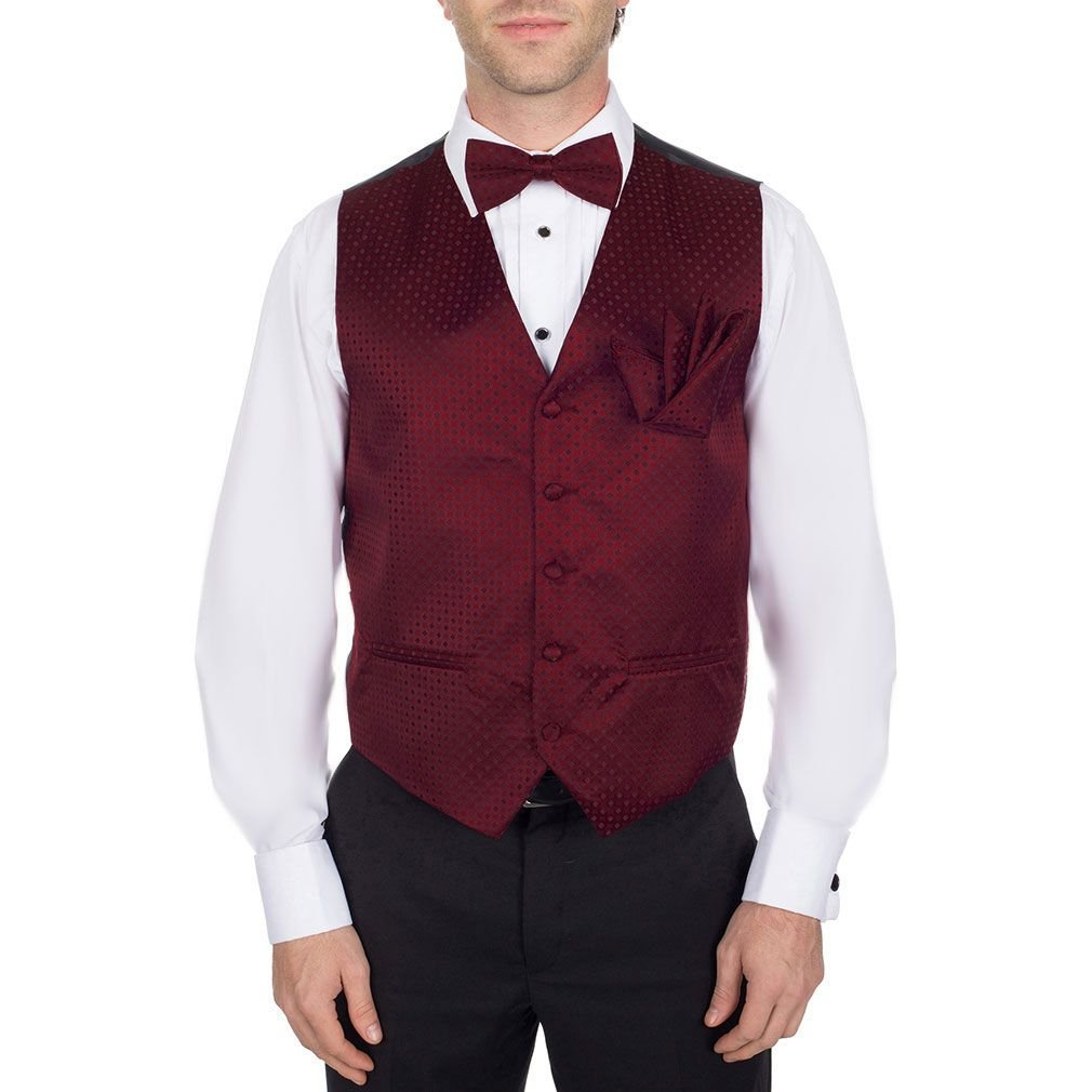 Buy Your Ties Men's Pattern Dress Vest Bow Tie For Tuxedo And Suit