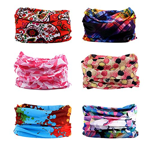 12 in 1 Wide 4pcs&8pcs Assorted Seamless Headbands for Men and Women Athletic Moisture Wicking Headwear for Sports Workout Yoga Multi Function Bandanna Headwrap Scarf Wrap (A3)