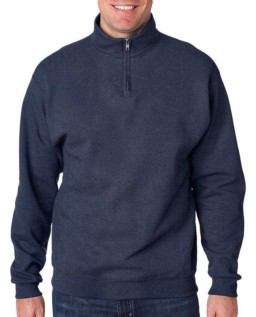 Jerzees mens Quarter-Zip Cadet Collar Sweatshirt (995M)
