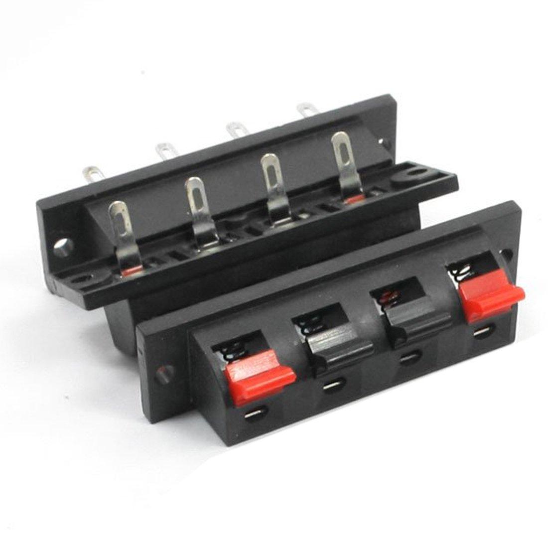 Seule ligne 4 broche 4 Position haut-parleur bornier connecteurs 5 Pcs TOOGOO R