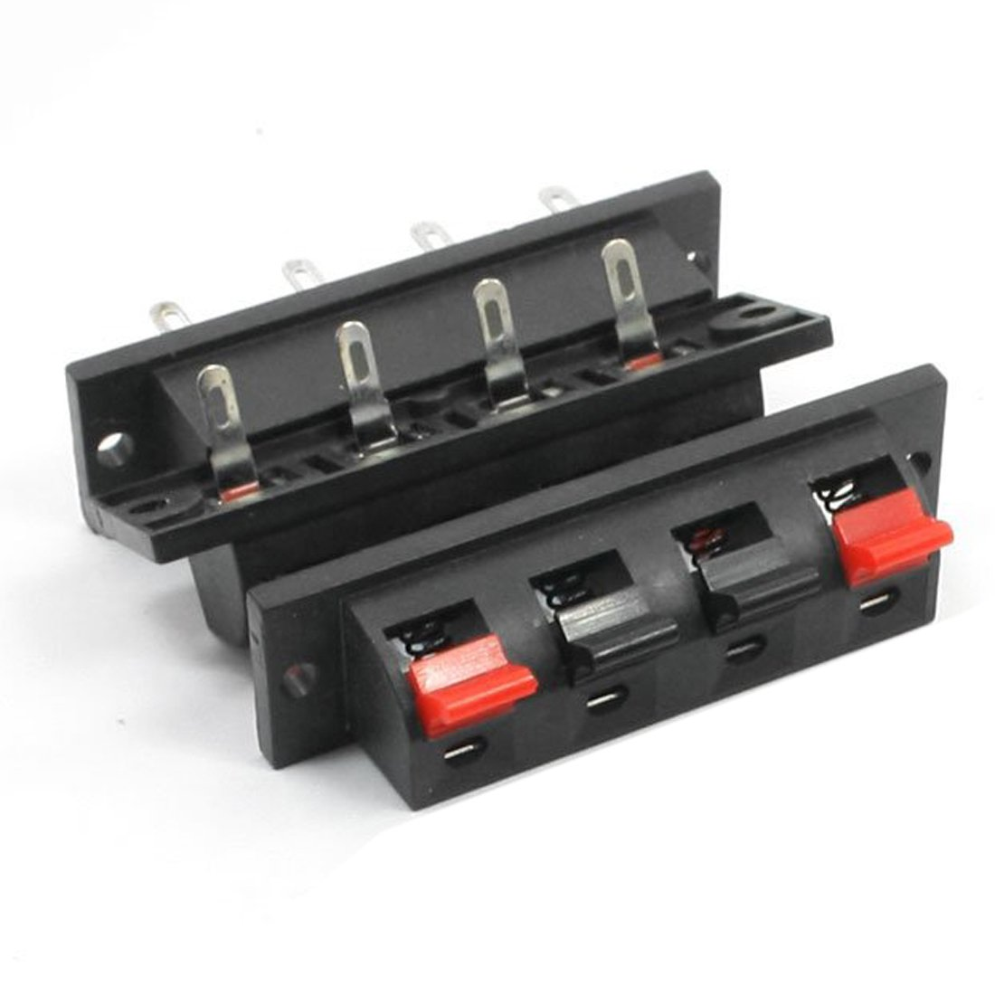 SODIAL(R) Single Row 4 Pin 4 Position Speaker Terminal Board Connectors 5 Pcs