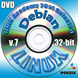 Debian 7 Linux DVD 32-bit Full Installation Includes Complimentary UNIX Academy Evaluation Exam