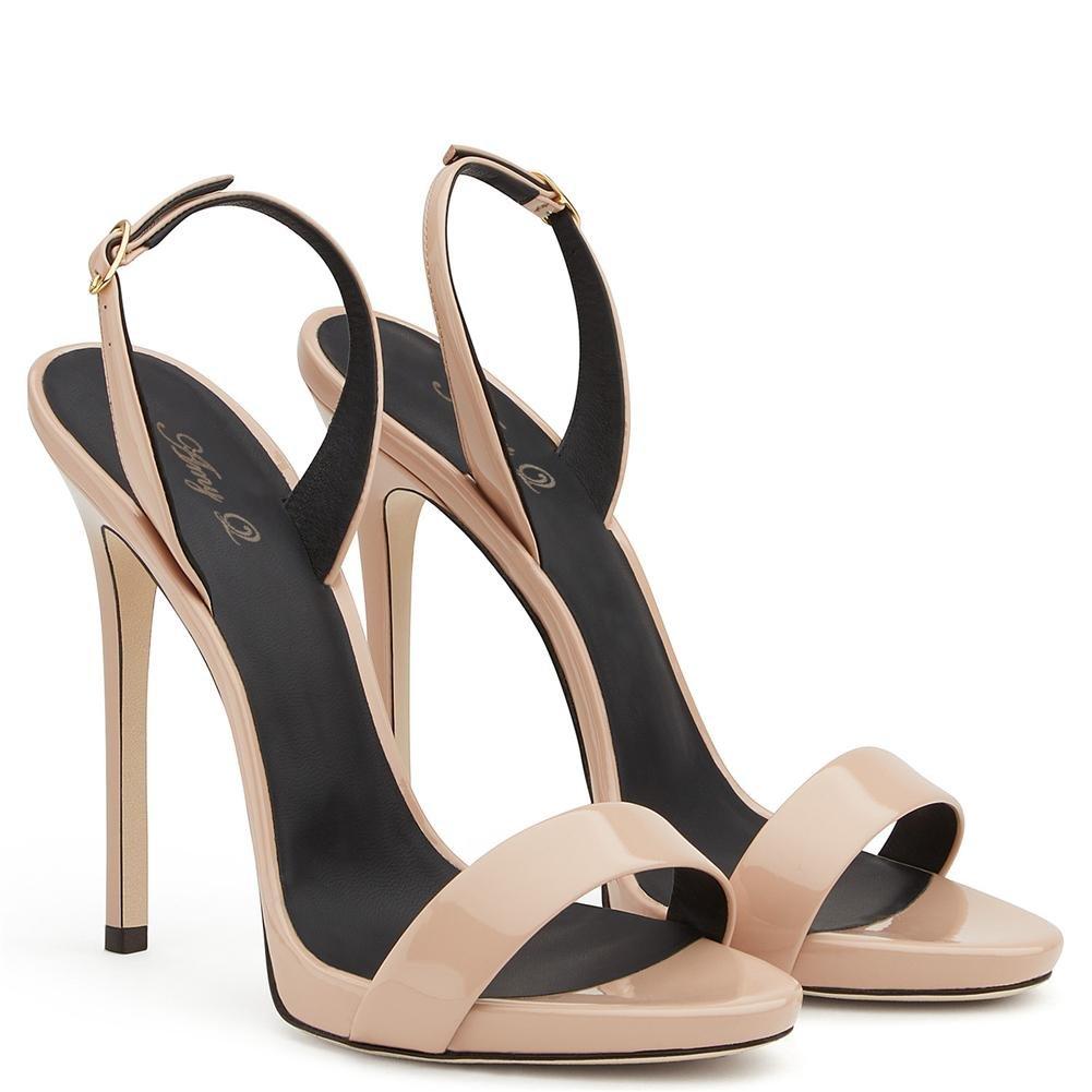 Donna sandali sandali sandali Tacco alto Cinturino alla caviglia Nero Rosso Vestito Club Festa Scarpe, EUR 35  UK 3 556719