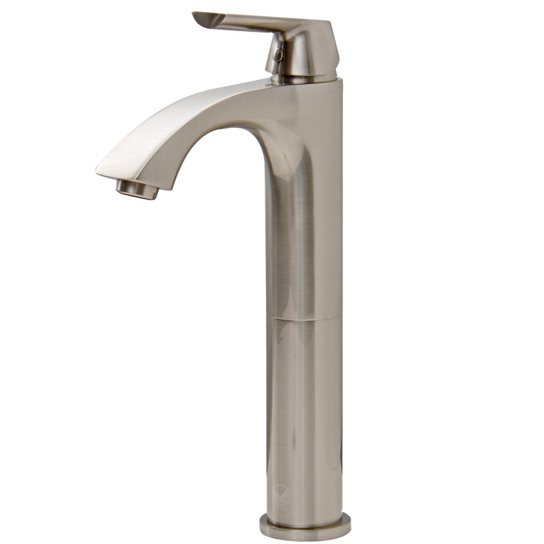 VIGO Linus Single Lever Vessel Bathroom Faucet, Brushed Nickel      Amazon.com