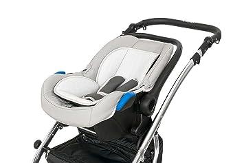 Lux4kids Cochecito 3 in 1 Silla de paseo + capazo + silla para coche + rutas giratorias neumática - giratorias + colchón + accesorios opcionales VIP Hecho ...