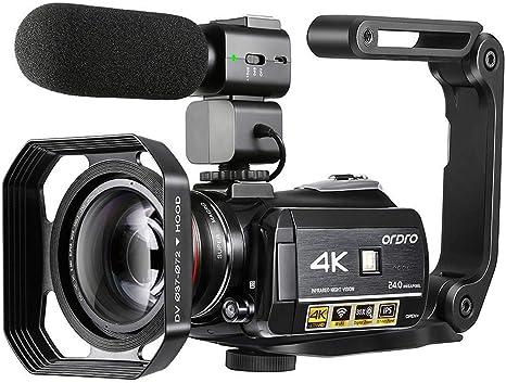 Videocámara 4K, Cámara de Video Cámara ORDRO AC3 Ultra HD 1080P ...