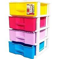 Acan Cajonera Wagon 4 cajones Multicolores con 4 Ruedas 64 x 38 x 39 cm