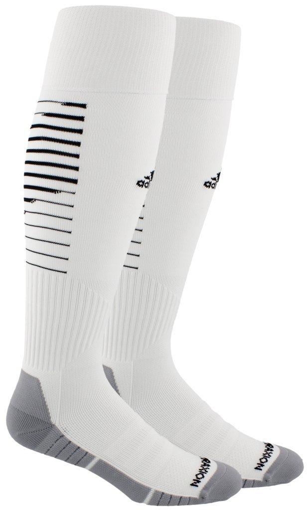 adidas Unisex Team Speed II Soccer Socks, (1-Pair), White/Black/Light Onix, 13C-4Y by adidas
