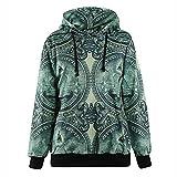 Zenicham Women's Hoodie Top Sweatshirts Long Sleeve Hooded Pullover Zip Zipper