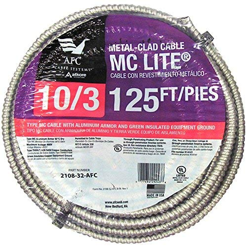 AFC Cable Systems 10/3 x 125 ft. Solid MC Lite Cable-2108-32-AFC