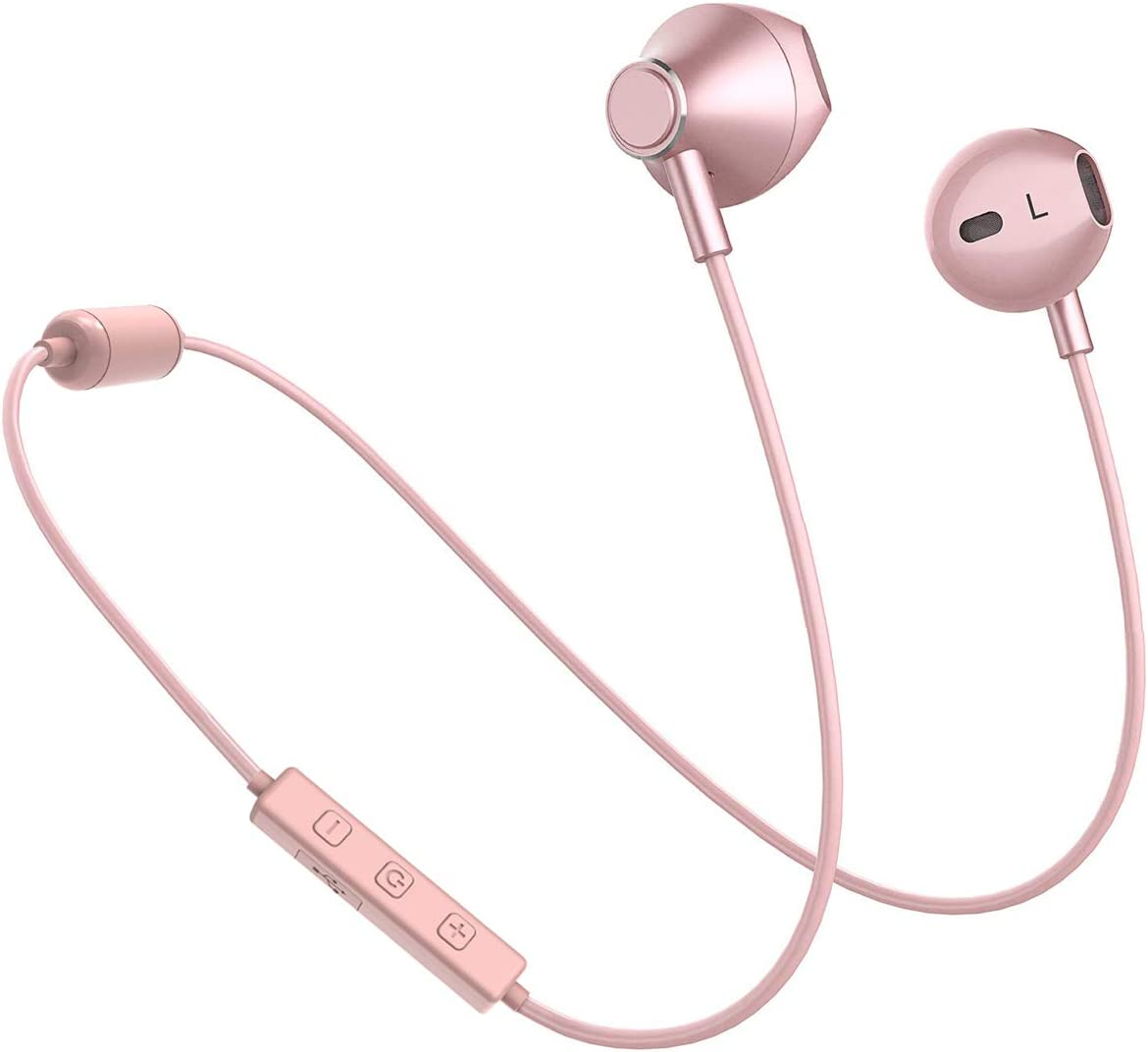 Amazon Com Bluetooth Headphones Yostyle Magnetic Wireless Earbuds Bluetooth 5 0 Noise Canceling Earphones Sweatproof Sport Headset W Mic For Iphone 11 Pro X Xr Xs Max 8 7 6 Plus 10 Hrs Work Time Rose Gold Home Audio Theater