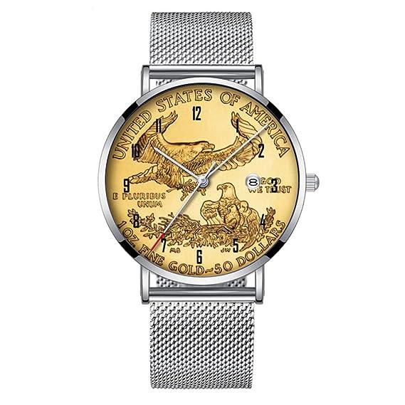 Minimalista Moda Cuarzo Reloj de Pulsera Elite Ultra Delgado Impermeable Reloj Deportivo con Fecha con Banda
