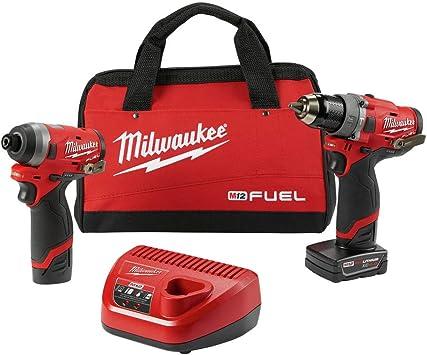 MILWAUKEE'S Electric Tools 2598-22 M12 Fuel 2 Pc Kit- 1/2