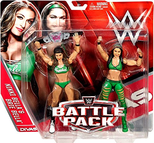 WWE Wrestling Series 38 Nikki & Brie Bella Twins 6'' Action Figure 2-Pack by Wrestling