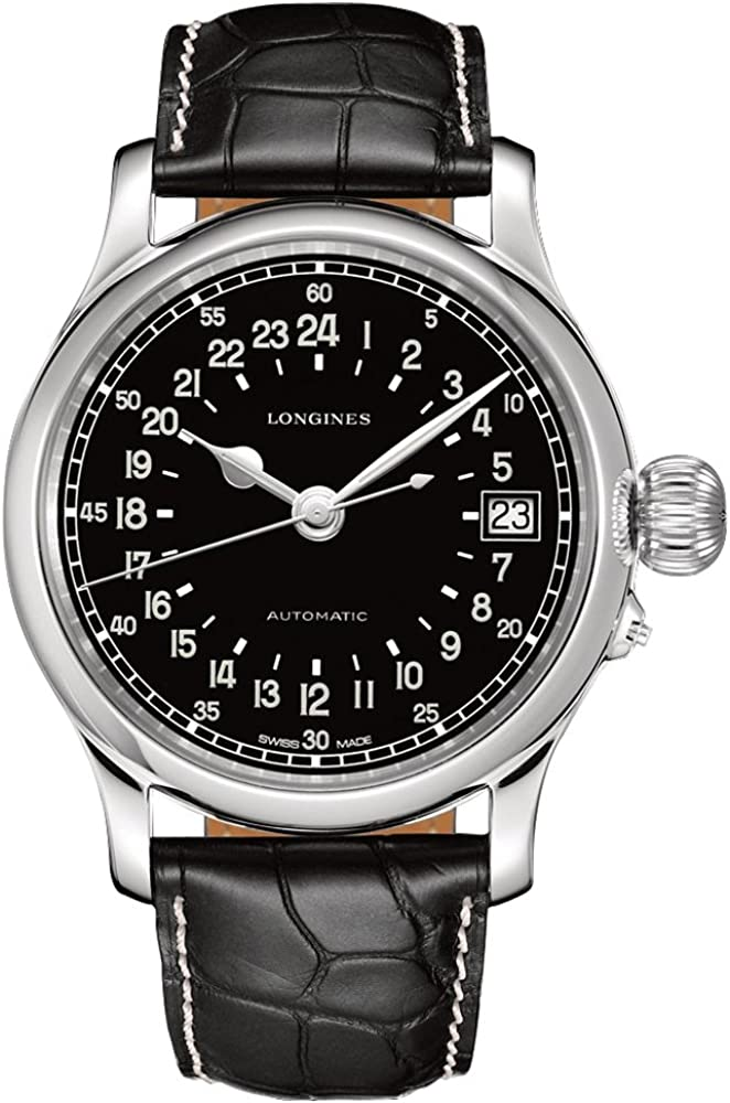 Longines L27514534 - Reloj de automático para Hombre, con Correa de Cuero, Color Negro