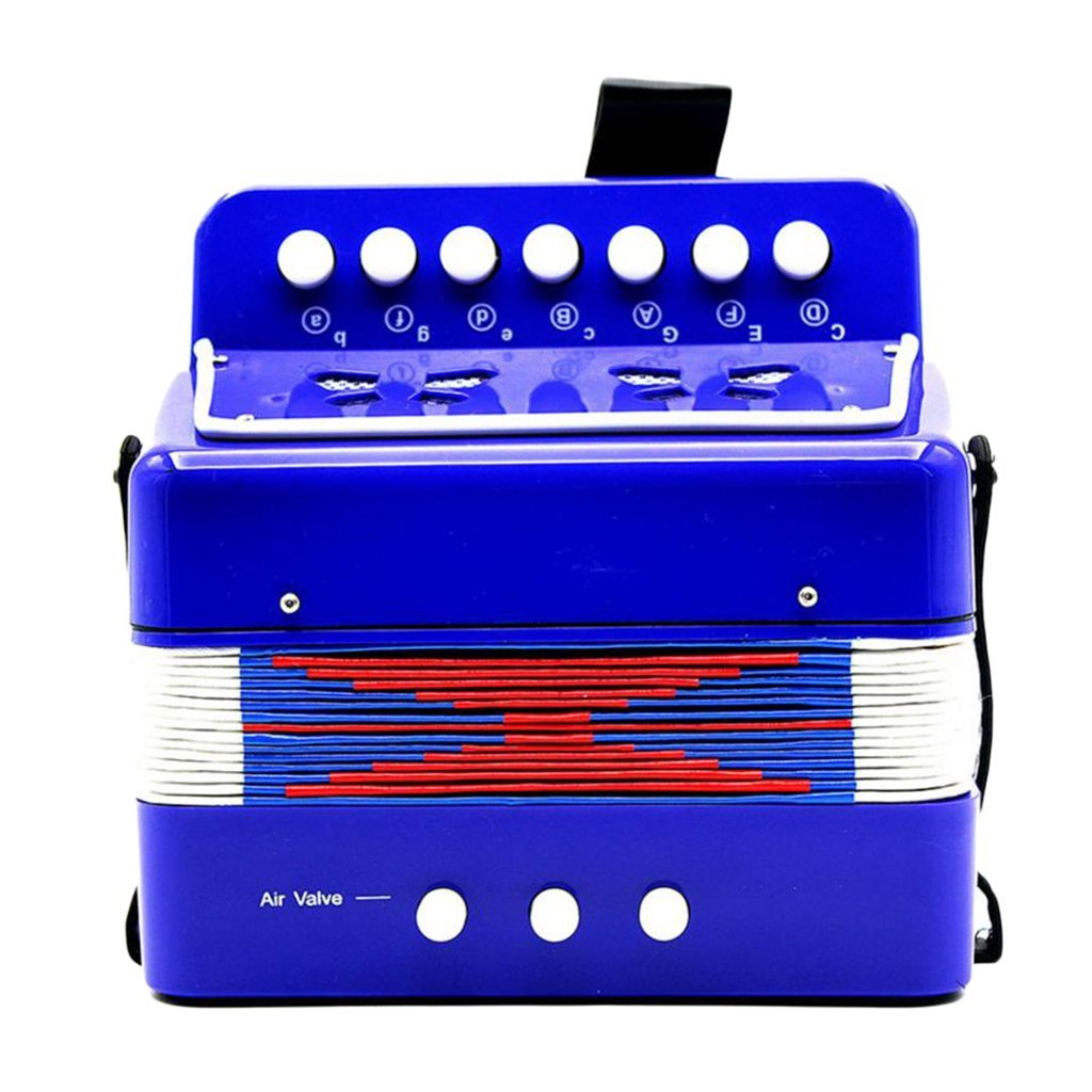 Homyl Mini 7 Keys Accordion Toy Musical Instrument for Children Kids Early Learning Education