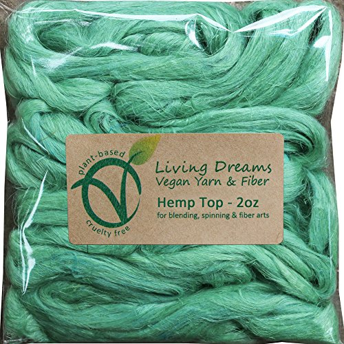 - Hemp Fiber for Spinning, Blending, Felting & Fiber Arts. Natural Vegan Combed Top. Mint