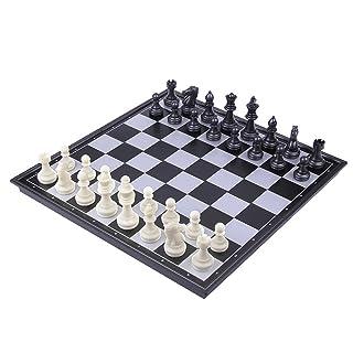 TOYMYTOY Set di scacchi da viaggio in plastica magnetica con scacchiera e giocattoli educativi per bambini e adulti