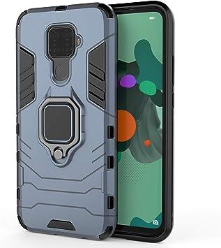 RFLY Funda para Huawei Mate 30 Lite, Doble Capa con Soporte de Anillo de Dedo Ajustable 360 ° Kickstand, Case para Soporte de Coche para Huawei Mate 30 Lite Smartphone, Azul Oscuro: Amazon.es: Electrónica