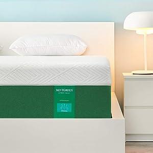 Full Size Mattress Mintgreen12 Inch Ge Memory Foam Mattress in a Box, Premium Bed Mattress with Breathable Soft Cover - Medium Firm Feel-Ventilated Design & CertiPUR-US Certified Foam Full Mattress