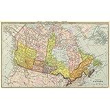 MAP REPRO ANTIQUE CANADA PUBLICATIONS CANADIAN DOMINION LARGE ART PRINT LF884