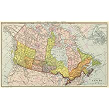 MAP CANADA PUBLICATIONS CANADIAN DOMINION LARGE ART PRINT LF884