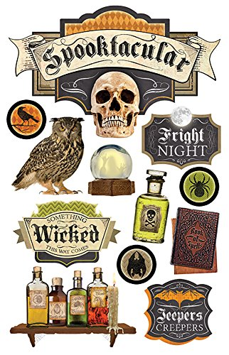 Paper House Productions STDM-0218E 3D Cardstock Stickers, Spooktacular (3-Pack) ()