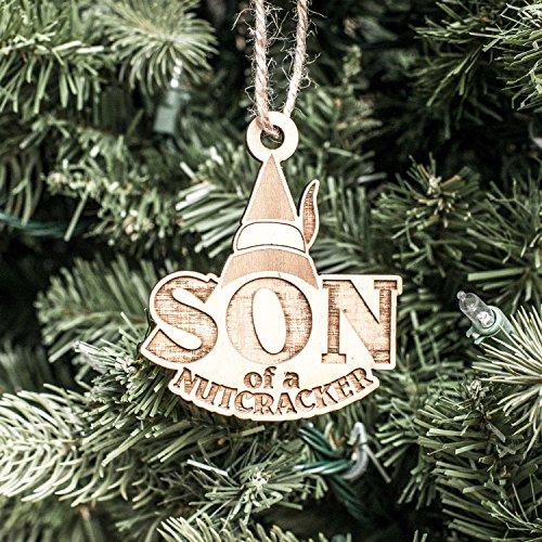 (Ornament - Son of a Nutcracker - Raw Wood 3x3in)