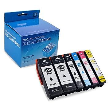 ZOOMTEC Compatible para Epson 33XL Cartuchos de Tinta para Epson ...