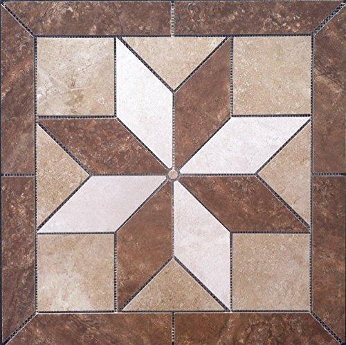"""22 1/4"""" X 22 1/4"""" Tile Medallion - Daltile's Affinty & Lowe's tile series"""