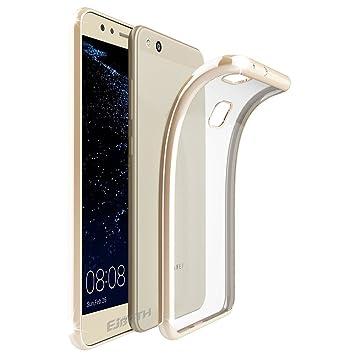 Funda Huawei P10 Lite, EJBOTH TPU Funda suave Flexible Case Teléfono protectora Carcasa Protección Transparente - Antideslizante Rasguño Resistente [ ...