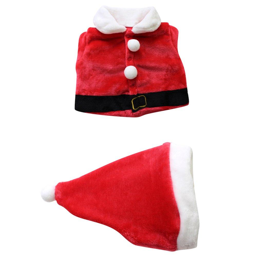Le SSara Bebé 3pcs Navidad Santa Claus Traje Traje Sombrero + Capa + pantalón: Amazon.es: Ropa y accesorios