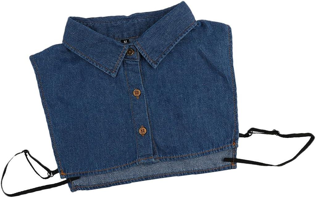 Haorw Krageneinsatz Damen Blume/Spitze Frauen Kragen Abnehmbare H/älfte Shirt Bluse