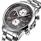 BENYAR Men Watch Chronograph Waterproof Watches Business Sport Stainless Steel Strap Wrist Watch For Men