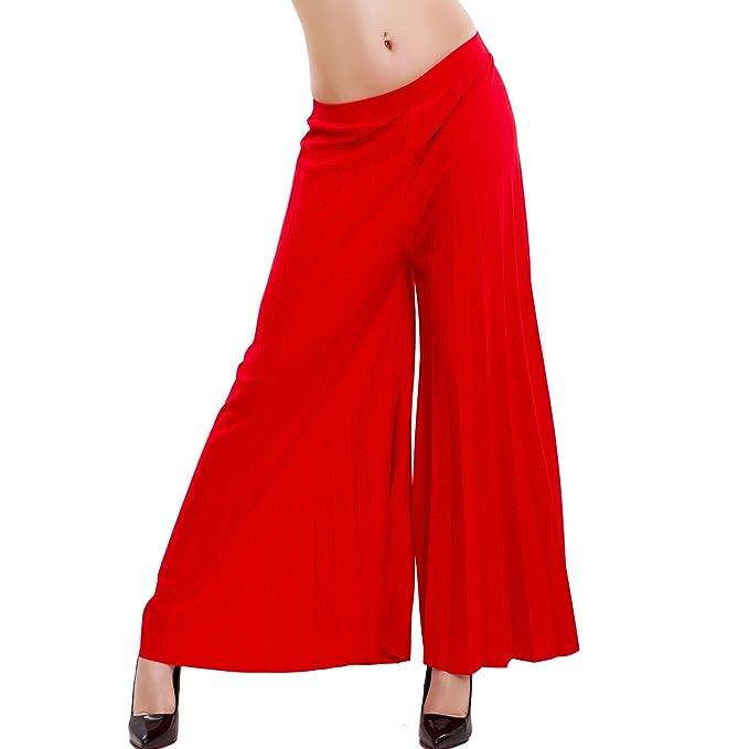 Plissettati Pieghe Chiffon Toocool Pantaloni Donna Palazzo qw6IntBp