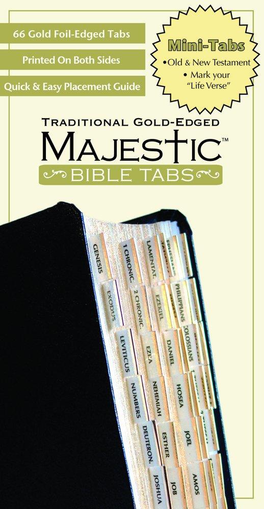 Majestic Traditional Gold Bible Tabs mini (Majestic Bible Tabs (Mini))