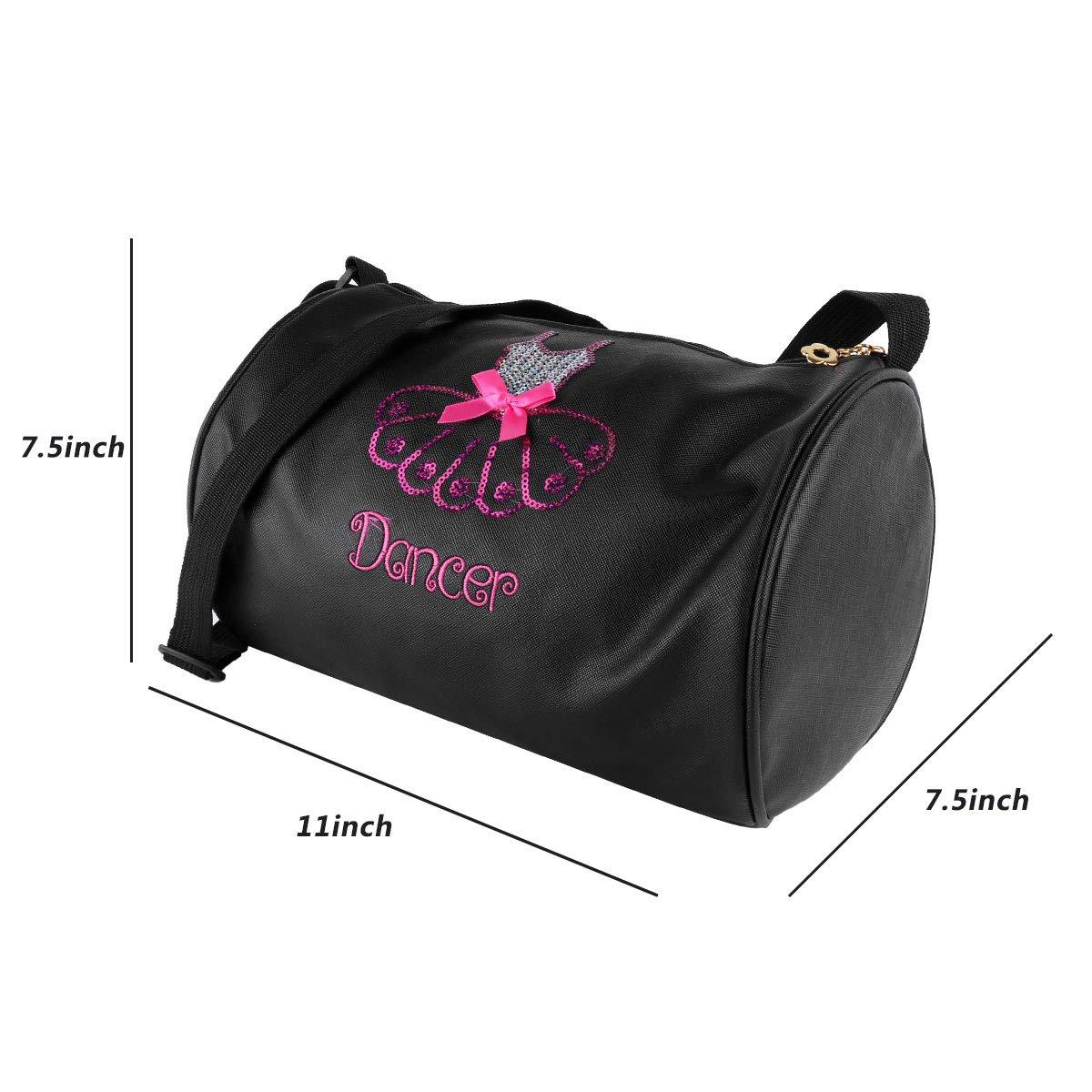 73039adb600 Amazon.com  CHICTRY Kids Girls Ballet Dance Bag Adorable Sequin Embroidered  Dress Duffle Bag Dancing Shoulder Bag School Bag Gym Hand Bag Children  Birthday ...