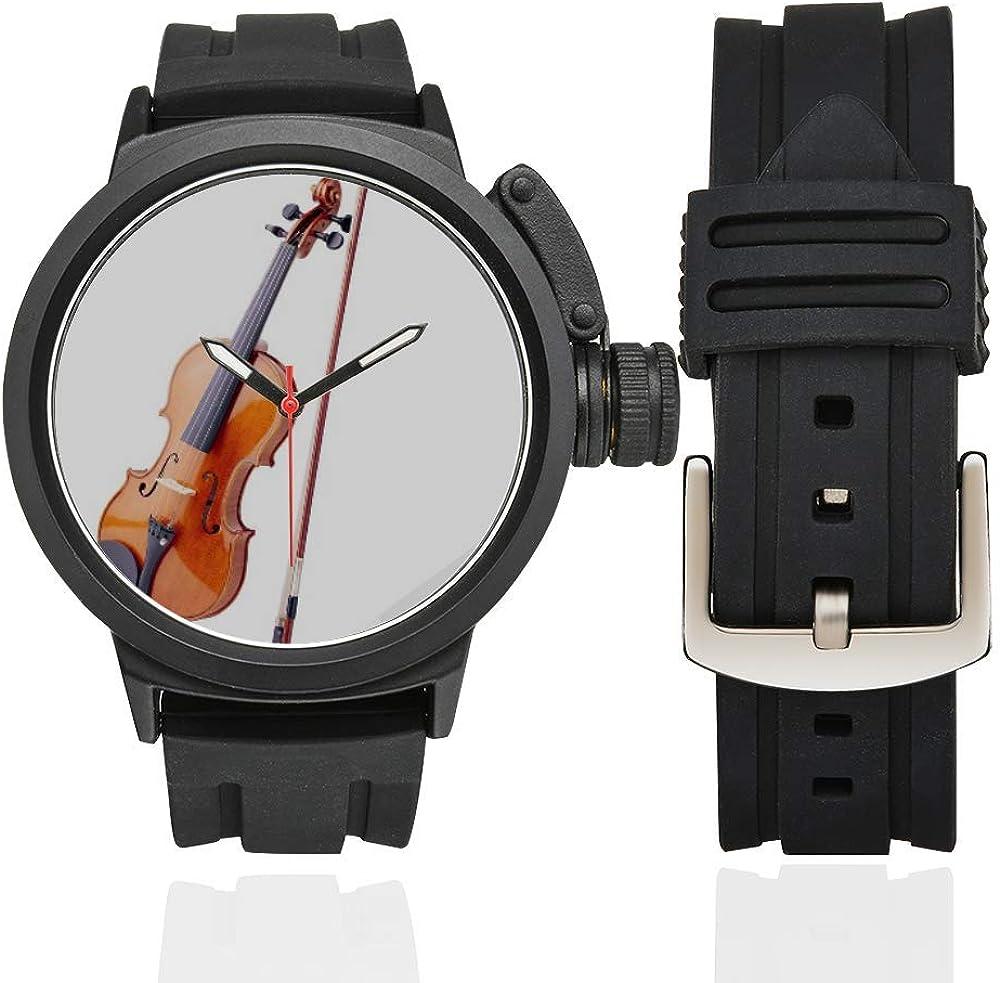 Violin Reloj para el Amante del violín Música Instrumentos Músico Hombre Reloj Deportivo