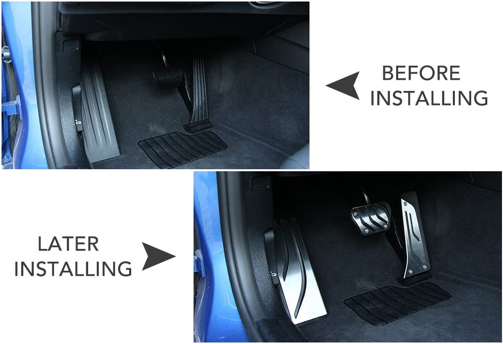 zxhLSA Car pedals non-slip accelerator pedal metal car pedal cover,For BMW 1 2 3 4 Series F20 F21 F22 F30 F31 F34 F32 GT 318 320i