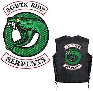 Parches bordados Riverdale Southside Serpents para chaqueta, sudadera con capucha, camisa con capucha, parches bordados para planchar para hombres y mujeres (3 piezas): Amazon.es: Juguetes y juegos