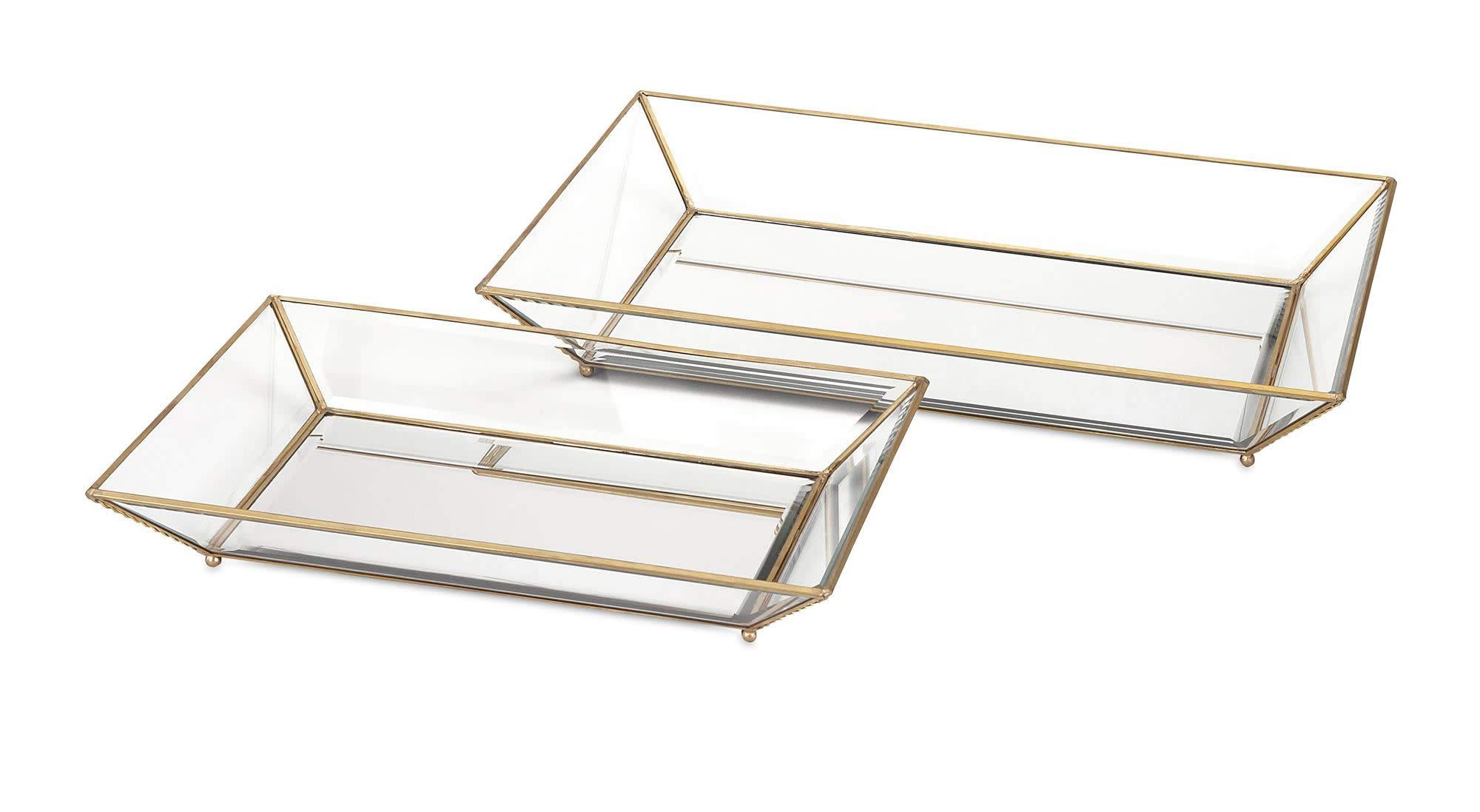 IMAX 31511-2 Maison Decorative Glass Trays (Set of 2)
